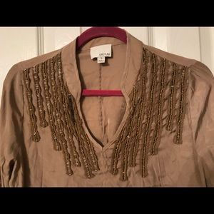 Greyson size Small beaded blouse